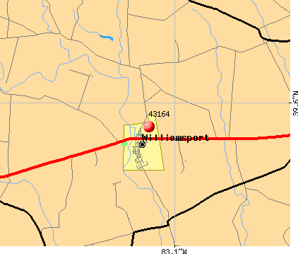 Williamsport, OH (43164) map