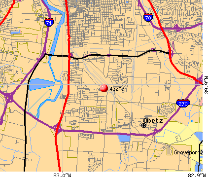 Columbus, OH (43207) map