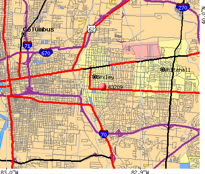 Columbus, OH (43209) map