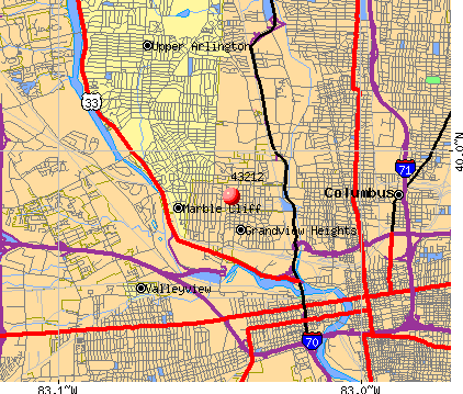 Columbus, OH (43212) map