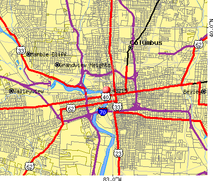 Columbus, OH (43215) map