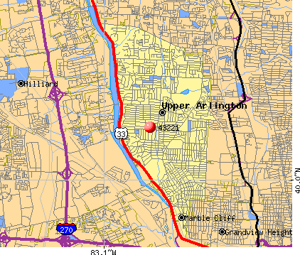 Upper Arlington, OH (43221) map