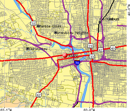 Columbus, OH (43222) map