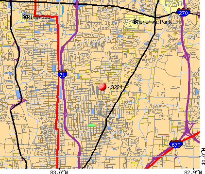 Columbus, OH (43224) map