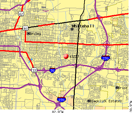 Columbus, OH (43227) map
