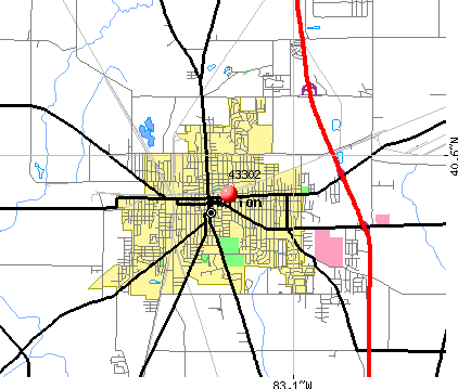 Marion, OH (43302) map