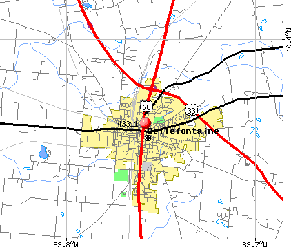 Bellefontaine, OH (43311) map