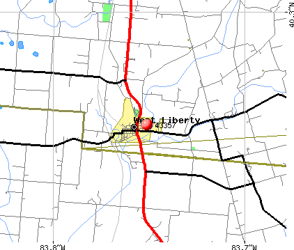 West Liberty, OH (43357) map