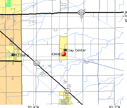 Clay Center, OH (43408) map