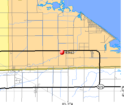 Clay Center, OH (43412) map