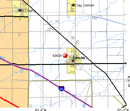 Genoa, OH (43430) map