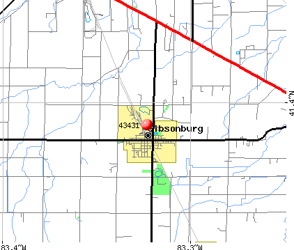 Gibsonburg, OH (43431) map