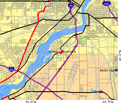 Rossford, OH (43460) map