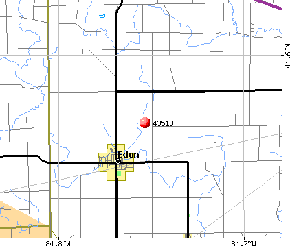 Edon, OH (43518) map