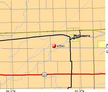 Metamora, OH (43540) map