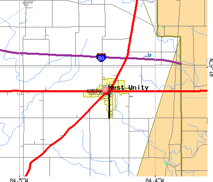 West Unity, OH (43570) map