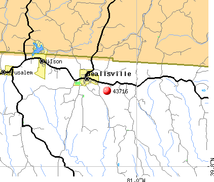 Wilson, OH (43716) map