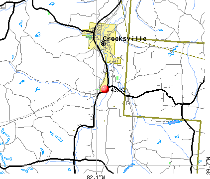 Crooksville, OH (43731) map