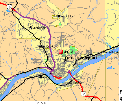 Calcutta, OH (43920) map