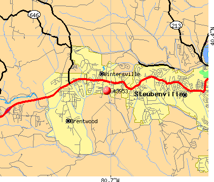 Wintersville, OH (43953) map