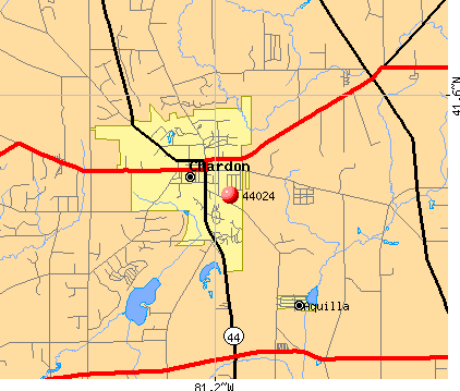 Chardon, OH (44024) map