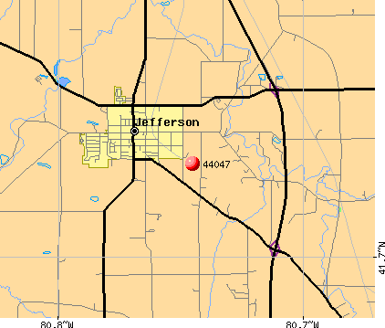 Jefferson, OH (44047) map