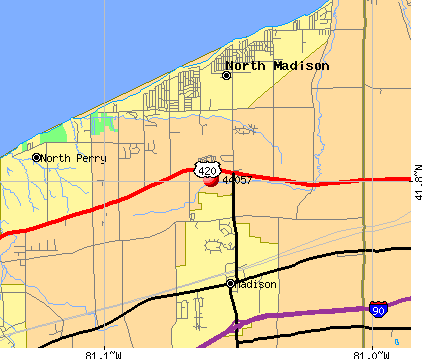 Madison, OH (44057) map