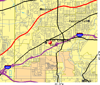 North Olmsted, OH (44070) map