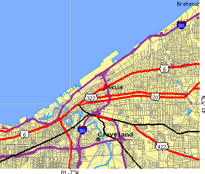 Cleveland, OH (44114) map