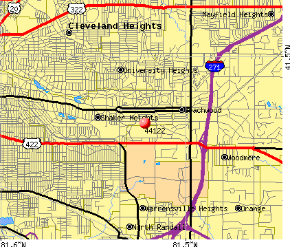Beachwood, OH (44122) map