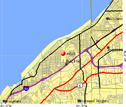 Euclid, OH (44123) map