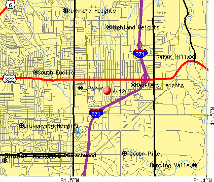 Pepper Pike, OH (44124) map
