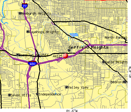 Garfield Heights, OH (44125) map