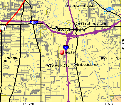 Independence, OH (44131) map