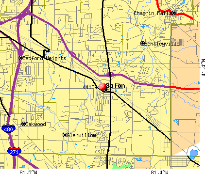 Solon, OH (44139) map