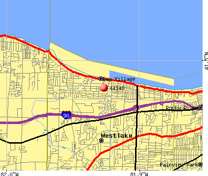 Bay Village, OH (44140) map