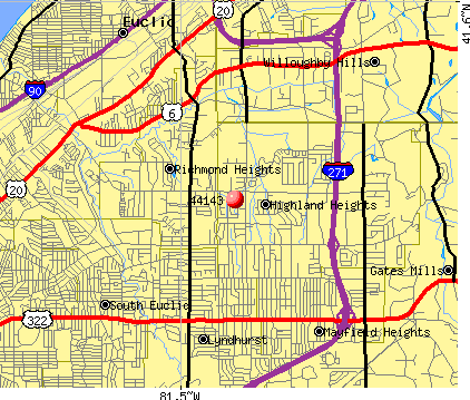 Highland Heights, OH (44143) map