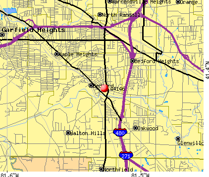 Walton Hills, OH (44146) map