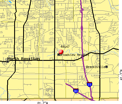 Broadview Heights, OH (44147) map