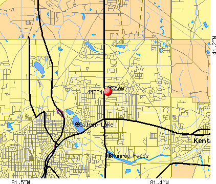 Stow, OH (44224) map
