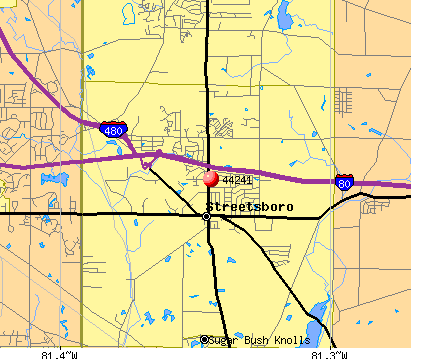 Streetsboro, OH (44241) map