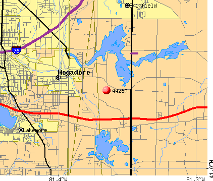 Mogadore, OH (44260) map