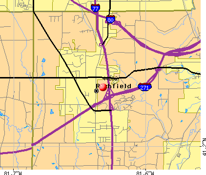 Richfield, OH (44286) map