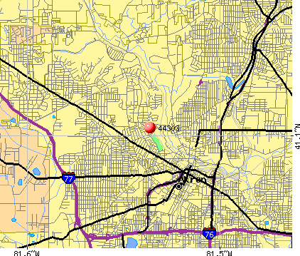 Akron, OH (44303) map