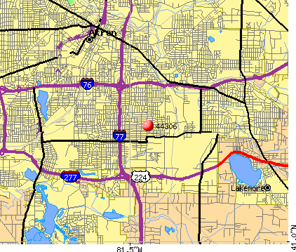 Akron, OH (44306) map