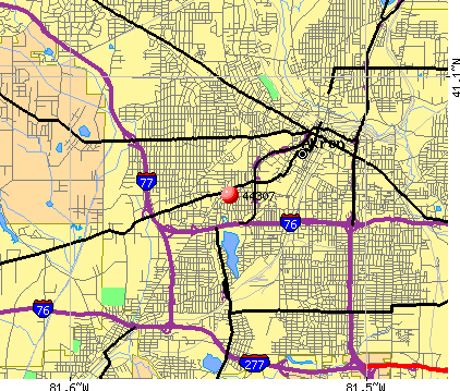 Akron, OH (44307) map