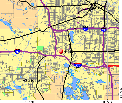 Akron, OH (44314) map