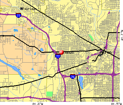 Akron, OH (44320) map