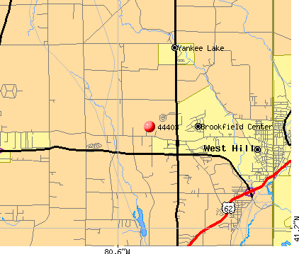Brookfield Center, OH (44403) map