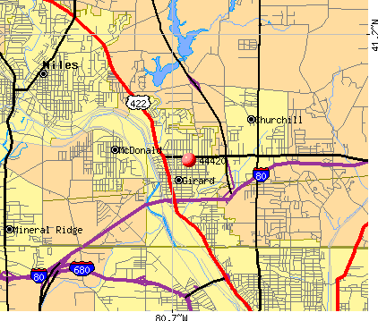 Girard, OH (44420) map